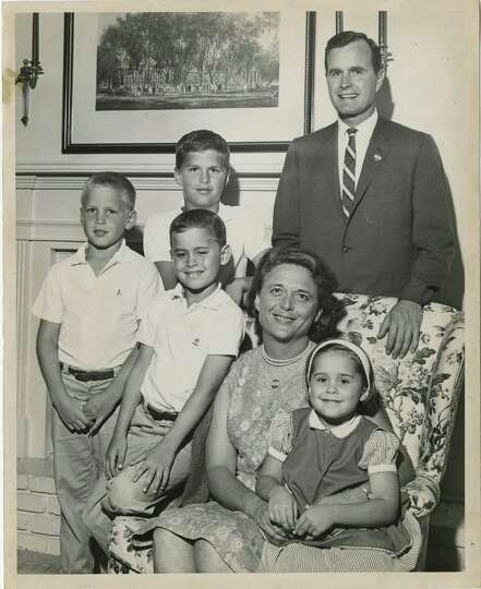 06/08/1964 - U.S. Senate candidate George Bush with three of his sons, from left, Neil, Jeb and Marv