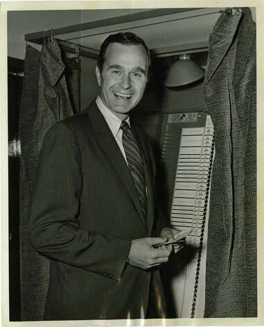 05/02/1970 - U.S. Senate candidate George Bush votes in the Texas Republican Primary election. Ray Covey / Houston Post Photo: Ray Covey, Houston Chronicle / Houston Post files