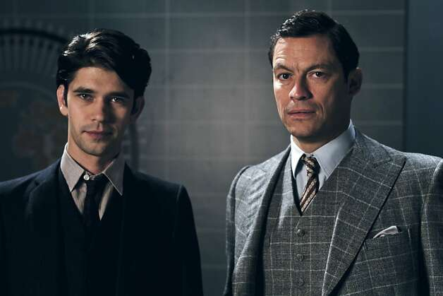 "This image released by BBC America shows Ben Whishaw, left, and Dominic West in a scene from ""The Hour."" Photo: Joe Martin, Associated Press"