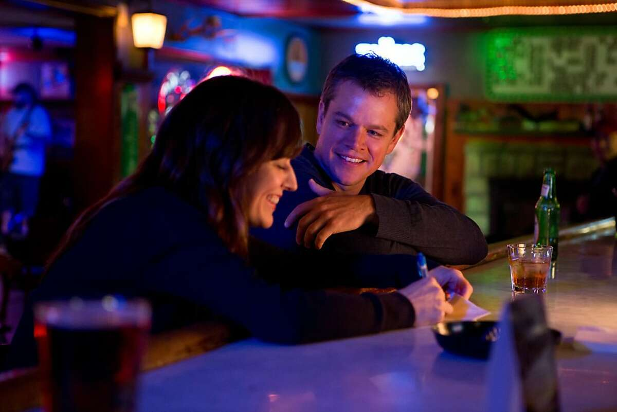 (l to r) Rosemarie DeWitt stars as Alice and Matt Damon stars as Steve in Gus Van Sant's contemporary drama Promised Land, a Focus Features release.