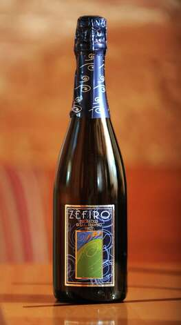 A bottle of Zefira Prosecco which was taste tested at the Wine Bar on Lark St. on Wednesday Dec. 12, 2012 in Albany, N.Y.  (Lori Van Buren / Times Union) Photo: Lori Van Buren