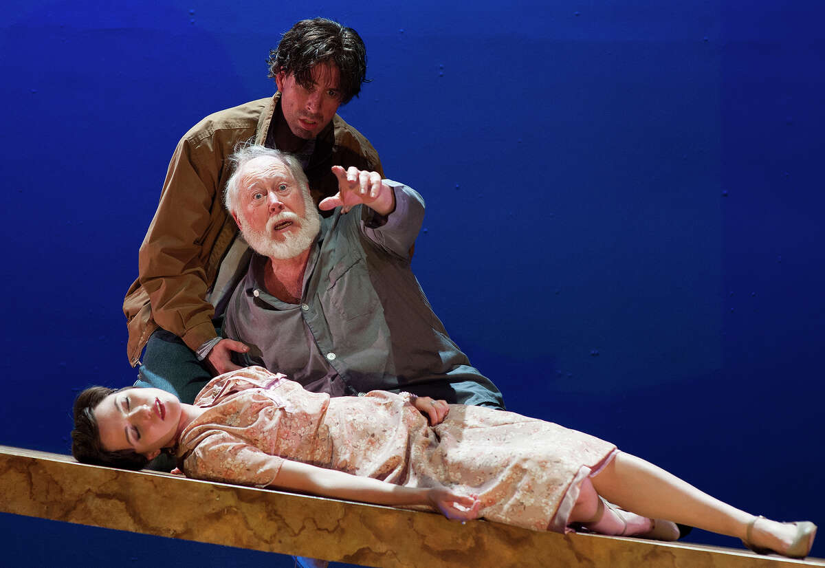 """Rusty Thurman (from top), Allan S. Ross and Kat Connor appear in the Classic Theatre's """"King Lear."""""""