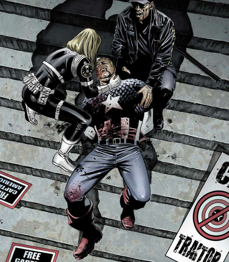 In 2007, Captain America was assassinated by a sniper. Photo: AP / MARVEL COMICS