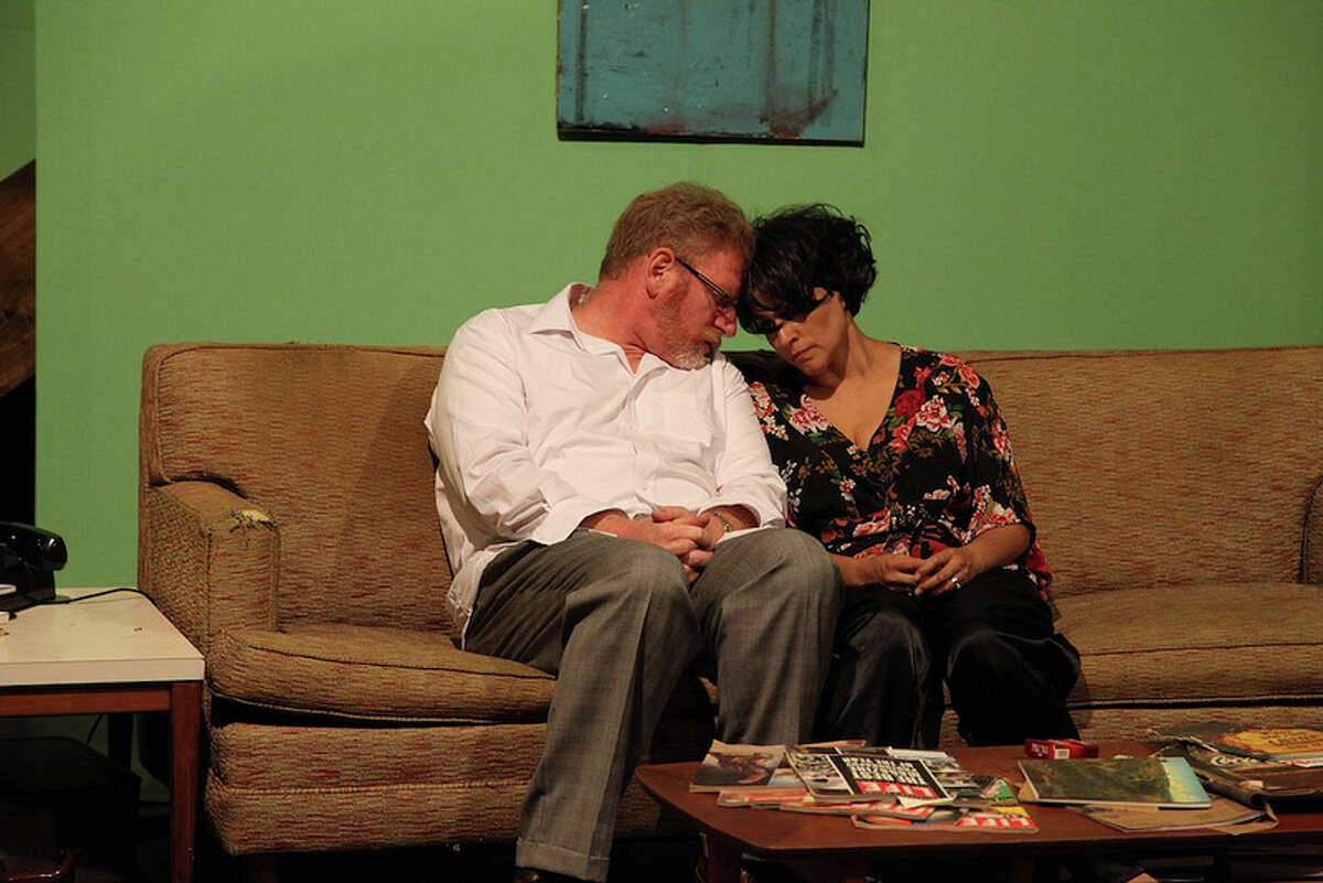 David Connelly (from left) and Gloria Sanchez-Molina star in AtticRep's