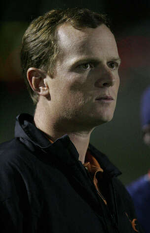 Former University of Texas quarterback Major Applewhite at the Madison vs Lee game at Comalander Stadium game Friday Oct.23, 2008. DELCIA LOPEZ/STAFF delopez@express-news.net Photo: DELCIA LOPEZ, Express-News / delopez@express-news.net