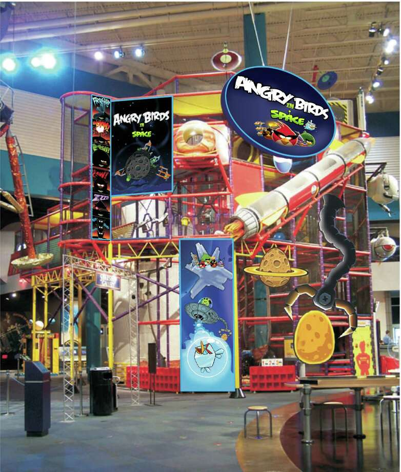 "The ""Angry Birds Space"" exhibit at Space Center Houston will feature games and 3-D sculptures."