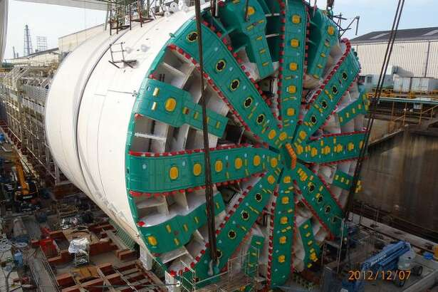 Want to hear what the world's largest-diameter tunneling machine has to say? Meet Bertha. Apparently, the boring machine that will be digging its way through downtown Seattle to make way for the state Route 99 tunnel also got a Twitter account. (Photo by Washington State Department of Transportation.)