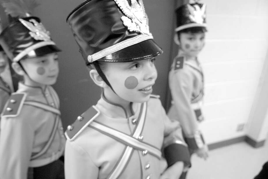 Greenwich resident Grayson Kelley, 10, center, prepares to take the stage as a soldier in the New York City Ballet's Nutcracker at Lincoln Center in New York on Dec. 20. Photo: Keelin Daly / Stamford Advocate Riverbend Stamford, CT