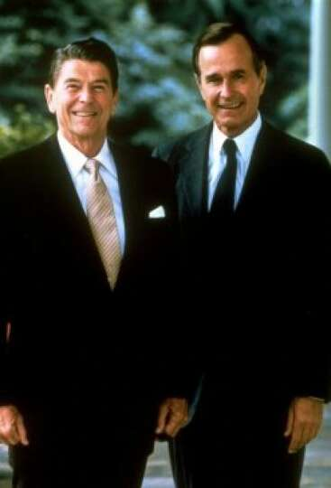 President Ronald Reagan and Vice President George Bush in July 1981.
