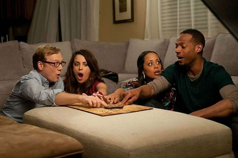 "Marlon Wayans, Essence Atkins, Nick Swardson e Alanna Ubachin ""The Haunted House."" This nomination also includes Swardson's performance in ""Grown Ups 2."" Photo: Open Road Films"