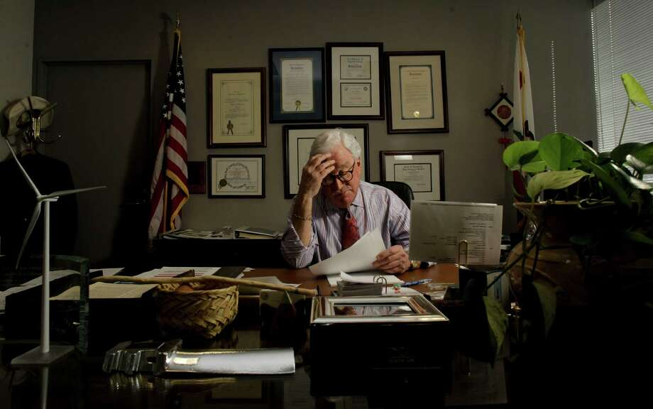 California Public Utilities Commission president, Michael Peevey, at his San Francisco, Ca. office on Tuesday Jan, 25, 2011. Photo: Michael Macor / The Chronicle / SFC