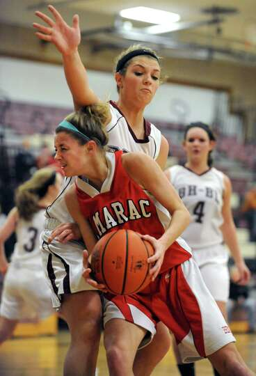 Tamarac's Jenna Erickson drives to the hoop during a basketball game against Burnt Hills on Wednesda