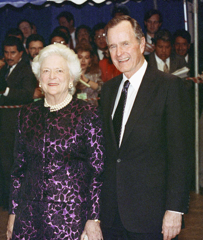 "President George H.W. Bush will be remembered for Gulf War I, ""Read my lips: No new taxes,"" the North American Free Trade Agreement and the first official presidential pardon of a Thanksgiving turkey, among other things, while First Lady Barbara Bush will be remembered for her tireless efforts to promote literacy. Here are some photos of the pair visiting the Alamo City, before, during and after George Bush's presidency.