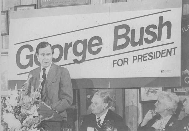 Presidential hopeful George H.W. Bush speaks at a rally in San Antonio on May 2, 1980. Photo: San Antonio Express-News File Photo