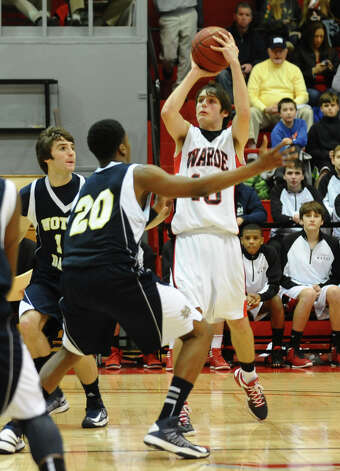 Semifinal action of the Fairfield Prep Holiday Classic basketball tournament between Fairfield Warde and Notre Dame of Fairfield, in Alumni Hall at Fairfield University in Fairfield, Conn. on Wednesday December 26, 2012. Photo: Christian Abraham / Connecticut Post