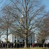 Mike Ross Connecticut Post freelance -Nearly 300 plus listen to funeral services outside of Lordship Community Church on December 19, 2012 for Victoria Soto, the first-grade teacher at Sandy Hook Elementary School who was shot and killed while protecting her students.