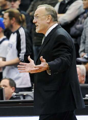 Timberwolves head coach Rick Adelman questions a call in the second half. (Jim Mone / Associated Press)