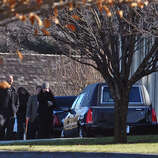 Mourners arrive for the funeral for Sandy Hook Elementary School student Allison Wyatt which was held at Sacred Heart Roman Catholic Church in Southbury Conn. on Thursday December 20, 2012.