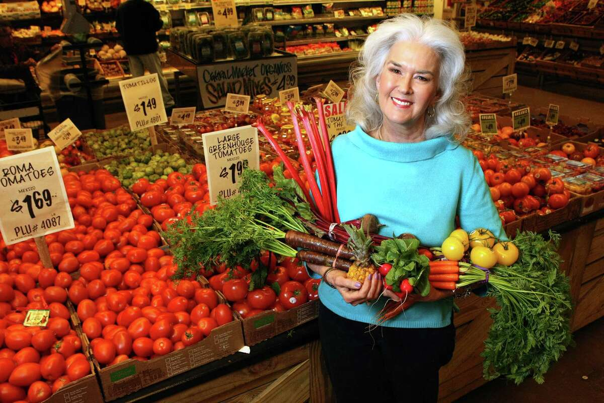 Household hints columnist Heloise turns 62, April 15, 2013. Photo: Heloise been a vegetarian since the 1970s, photographed at H-E-B Central Market, Feb. 7, 2012.