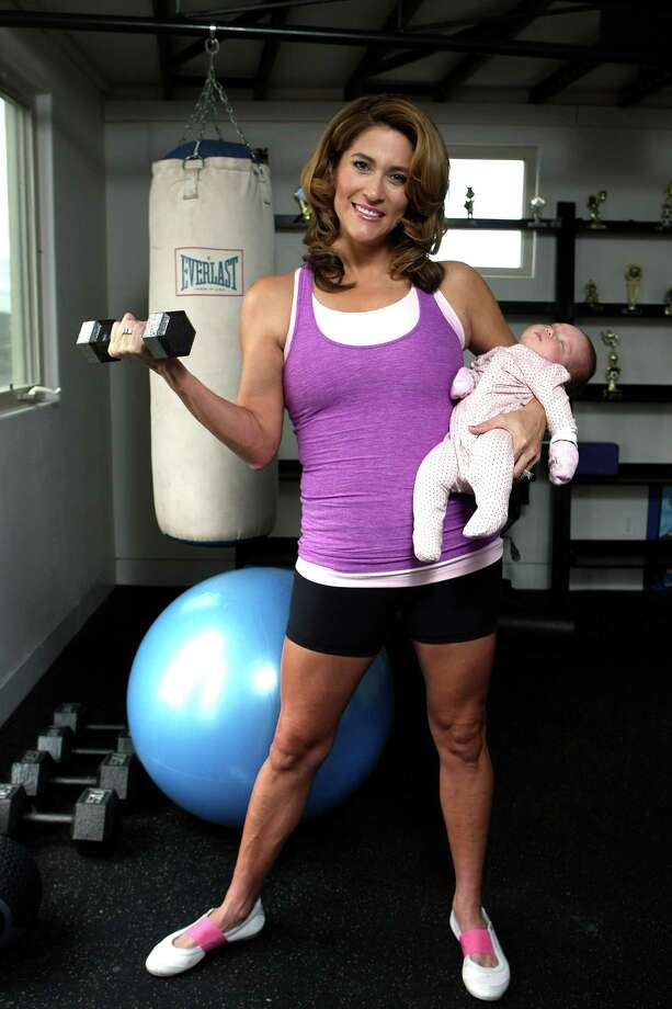 Sarah Lucero is working on getting back in shape after having a baby in December.  Photographed Monday Feb. 13, 2012. Photo: HELEN L. MONTOYA, San Antonio Express-News / ©SAN ANTONIO EXPRESS-NEWS