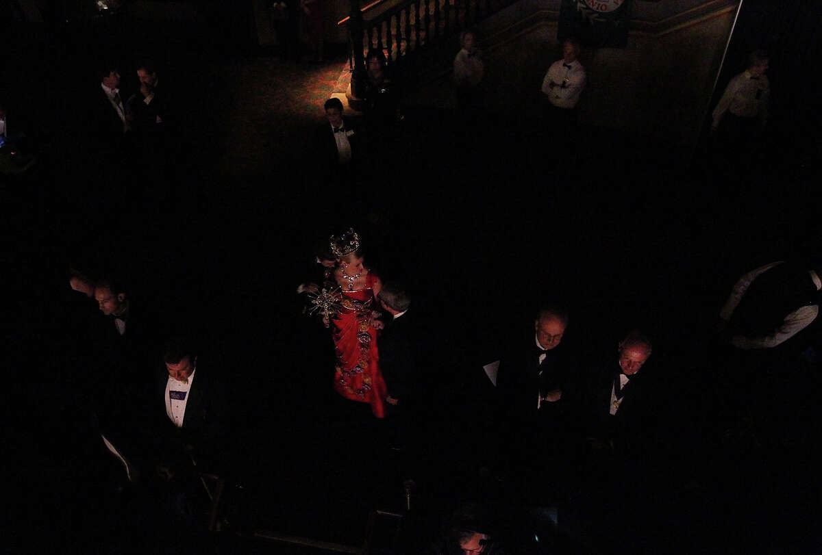 Sarah Elizabeth Butt, Duchess of Exalted Legacy, awaits her turn to take the stage at the 2012 Coronation of the Order of the Alamo at the Majestic Theater on Wednesday, Apr. 25, 2012.