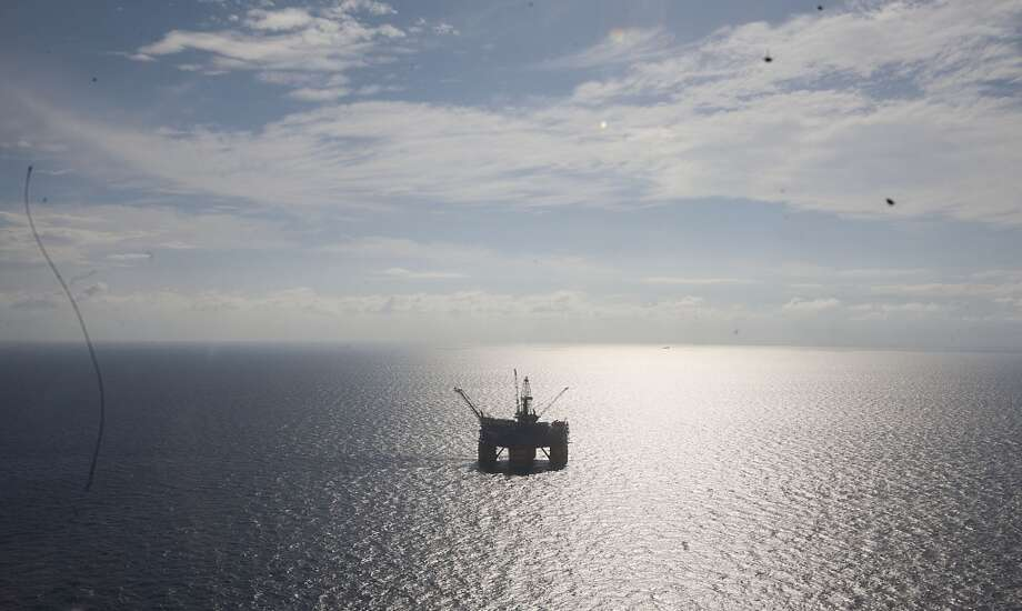 The Shell Ursa TLP (tension leg platform) located in the Mississippi Canyon block 809 in Gulf of Mexico Wednesday, Oct. 17, 2012, in New Orleans. The hull is comprised of four circular steel columns, 85 feet in diameter, 177 feet high, and a ring pontoon 38 feet wide and 29 feet high, with a rectangular cross section.( James Nielsen / Chronicle ) (Chronicle)