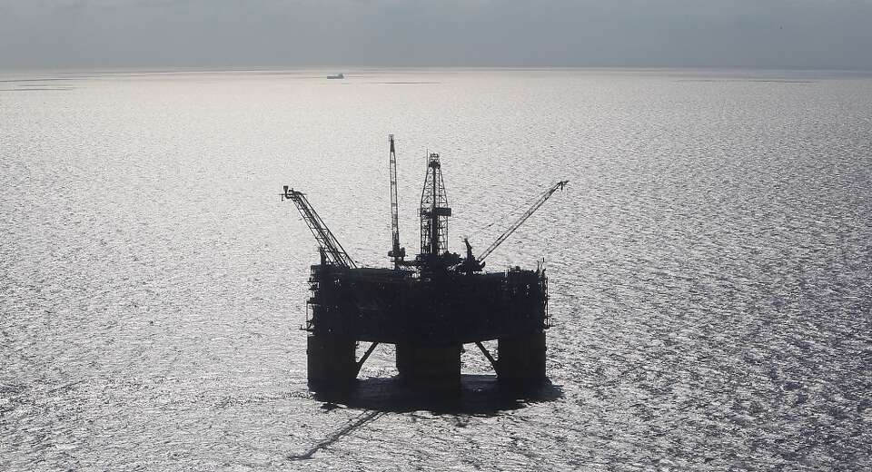 The Shell Ursa TLP (tension leg platform) located in the Mississippi Canyon block 809 in Gulf of Mex