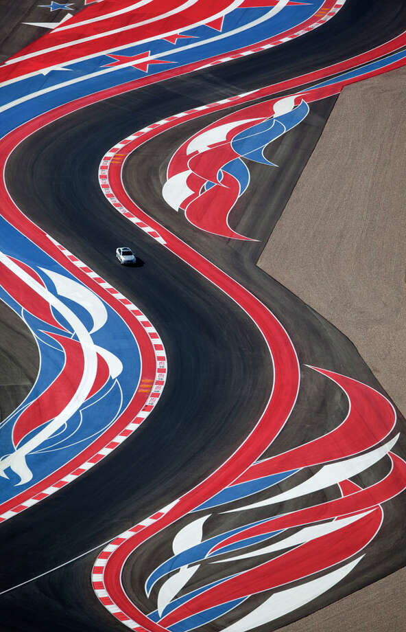 The Circuit of the Americas race track is seen in this Wednesday morning Nov. 14, 2012 aerial photo four days before the track's inaugural Formula 1 United States Grand Prix. Photo: William Luther / © 2012 San Antonio Express-News