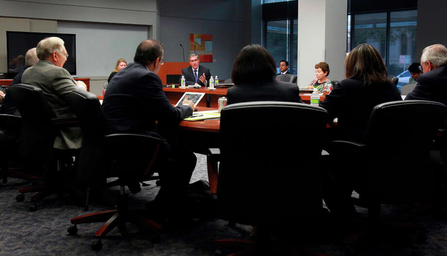 Former Deputy City Manager Pat DiGiovanni spoke before the Ethics Review Board in early October where he was found to have violated the city's ethics code (details below). Photo: Tom Reel, San Antonio Express-News / ©2012 San Antono Express-News
