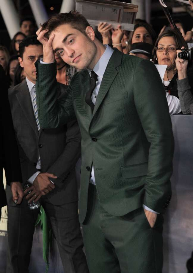 Robert Pattinson attends the world premiere of The Twilight Saga: Breaking Dawn Part II at the Nokia Theatre on Monday, Nov. 12, 2012, in Los Angeles. (Photo by Jordan Strauss/Invision/AP) (Jordan Strauss/Invision/AP)