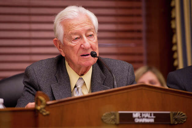 U.S. Rep. Ralph Hall, R-Texas, Chairman, Committee on Science, Space, and Technology questions NASA Administrator Charles Bolden during a budget hearing, Wednesday, March 2, 2011 in the Rayburn House Office Building on Capitol Hill in Washington. Photo: NASA/Bill Ingalls, (NASA/Bill Ingalls) / (NASA/Bill Ingalls)