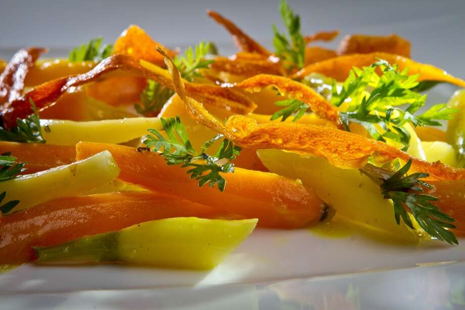 Lucy at Bardessono in Yountville, 1.5 stars: Freshly dug carrot salad ($13)