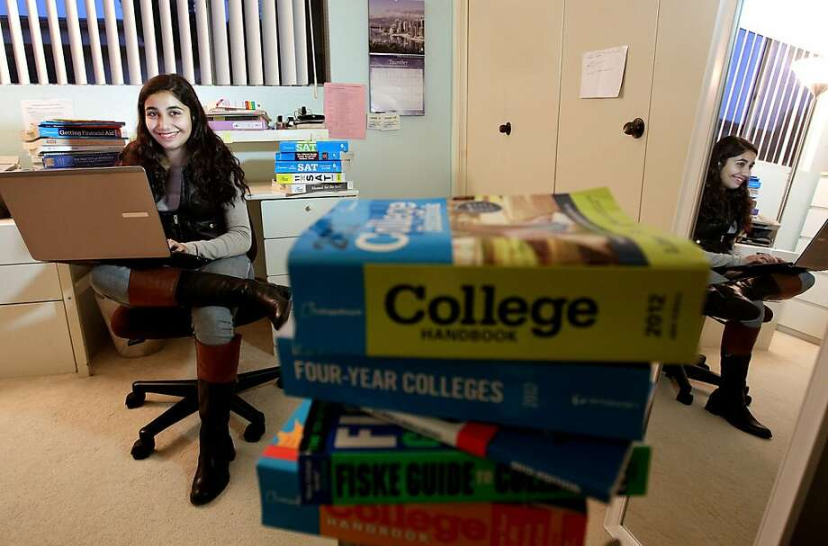 "Santa Monica High School senior Hannah Kohanzadeh embraces the trend in more revealing essay prompts: ""So many schools don't pay attention to the little quirks students have."" Photo: Christina House, McClatchy-Tribune News Service"