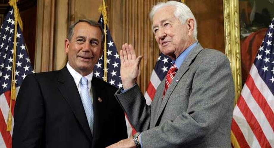 Speaker John Boehner and Rep. Ralph Hall. Photo: Charles Dharapak