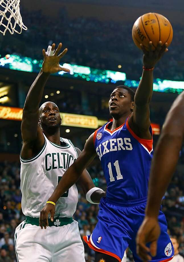 Philadelphia's Jrue Holiday is producing career highs in points, shooting and assists for the 76ers. Photo: Jared Wickerham, Getty Images