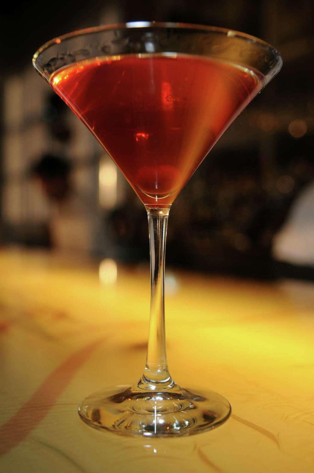 Cherry of San Leon cocktail at Triniti.