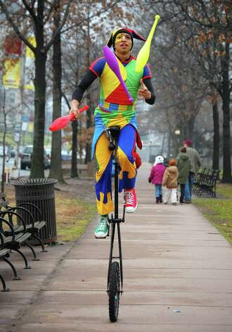Street performers are featured at First Night Hartford. Photo: Contributed Photo