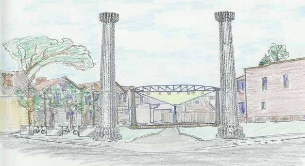 Artust's rendering of  Freedom Square, Troy. (Image provided by New York Media Alliance)