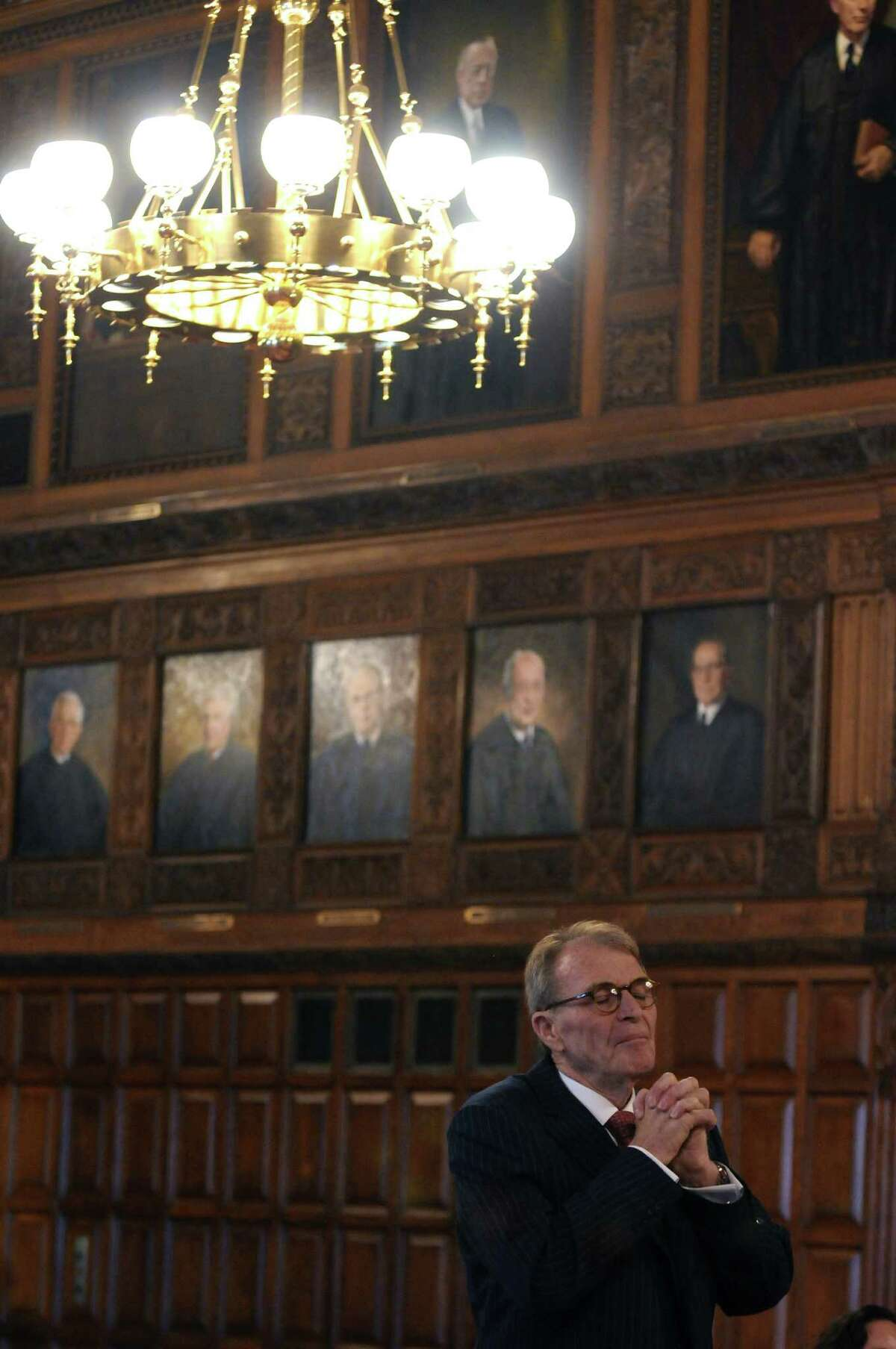 Defense attorney Terence L. Kindlon makes his case to the justices of the New York State Court of Appeals during the appeal of Christopher Porco's murder and attempted murder conviction, on Tuesday Sept. 13, 2011 in Albany, NY.( Philip Kamrass / Times Union)