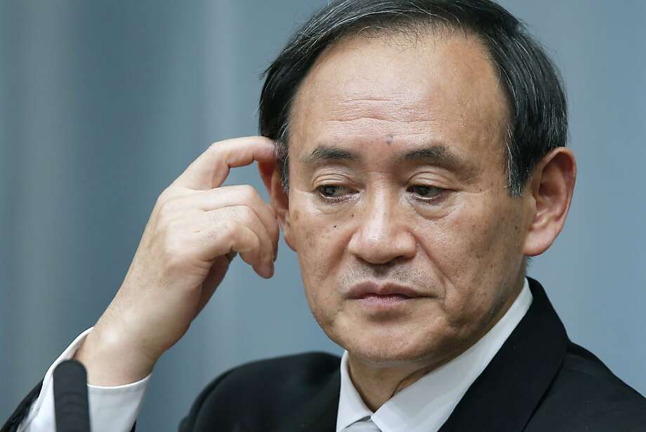 Yoshihide Suga, Japan's newly appointed chief Cabinet secretary, hinted about a revised apology. Photo: Kiyoshi Ota, Bloomberg