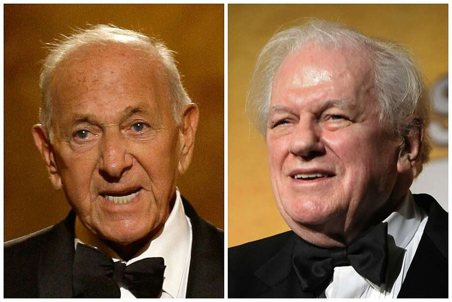 "This combination of Associated Press file photos shows, Jack Klugman, left, speaking at the 62nd Annual Tony Awards in New York on June 15, 2008 and Charles Durning, right, during the 14th Annual Screen Actors Guild Awards in Los Angeles. Klugman and Durning, both of whom died Monday, Dec. 24, 2012,  Klugman at 90 in Los Angeles, Durning at 89 in New York, spent storied careers building catalogues of roles that classed them indisputably as ""character actors."" (AP Photo/File) Photo: Associated Press"