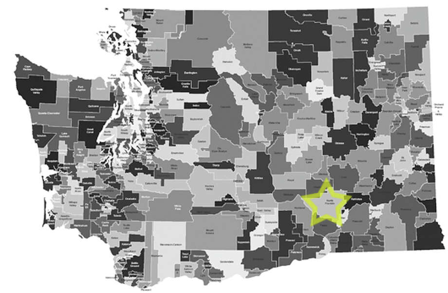 9. North Franklin School District: 39.4 percent of school-age children in the district live in poverty. Photo: Data From Census Bureau, Maps From Office Of Superintendent Of Public Instruction
