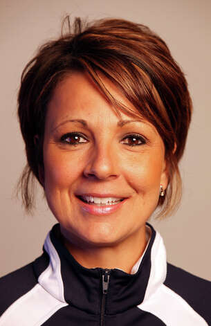 Smithson Valley volleyball coach Liana Gombert Thursday Dec. 13, 2012. Photo: Edward A. Ornelas, Express-News / © 2012 San Antonio Express-News