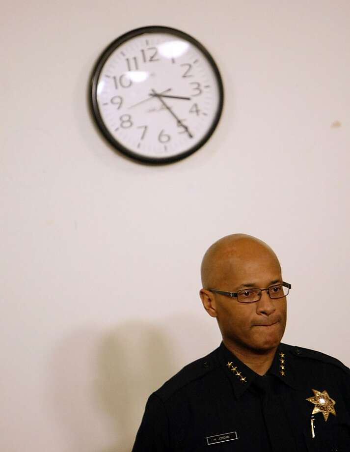 Oakland Police Chief Howard Jordan answers questions at a City Hall news conference about the hiring of William Bratton. Photo: Sean Havey, The Chronicle