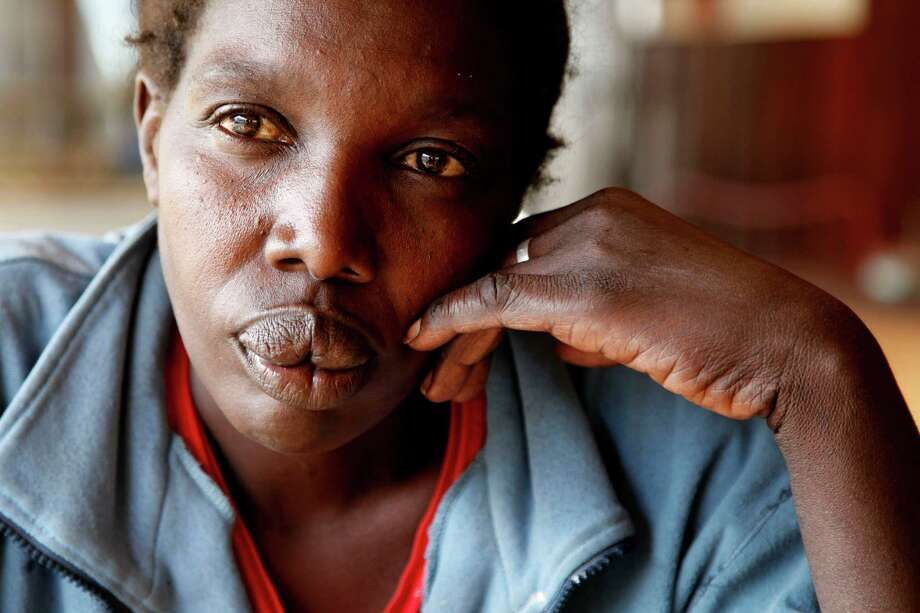 "Maimouna Awuor, 44, says after giving birth, she couldn't pay the $60 bill, and was held with what she believes was about 60 other women and their infants.  ""They abuse you, they call you names,"" she said of the hospital staff. Photo: Sayyid Azim, STF / AP"