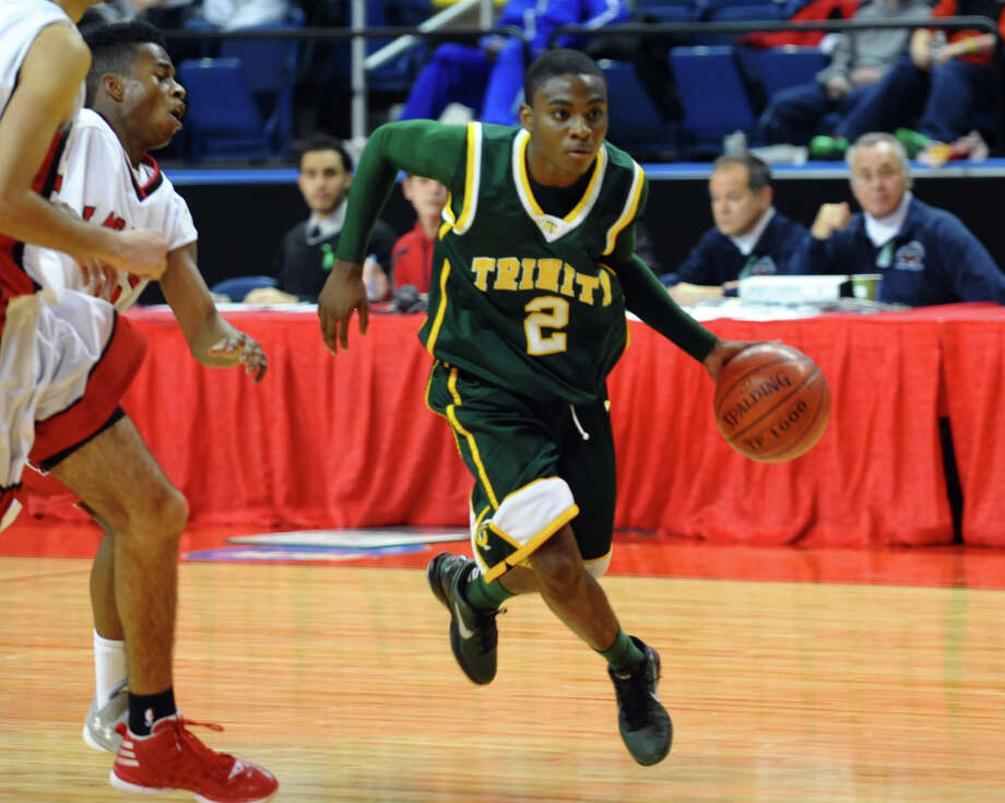 Northeast Christmas Classic basketball tournament action between Trinity Catholic and LaSalle Academy at the Webster Bank Arena in Bridgeport, Conn. on Thursday December 27, 2012. Photo: Christian Abraham