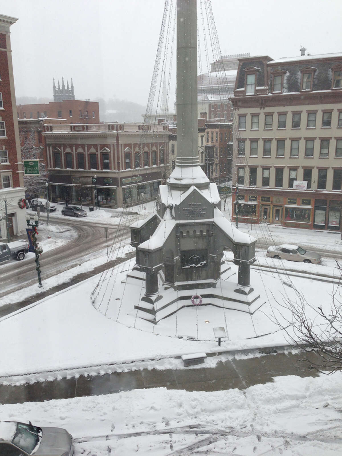 Winter wonderland in downtown Troy. -- Jon Huther