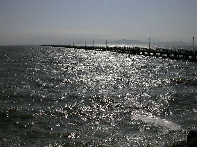 The 3,000-foot walk on Berkeley Pier offers an expansive view of the bay, with Mount Tamalpais part of the backdrop. Photo: Tom Stienstra, The Chronicle
