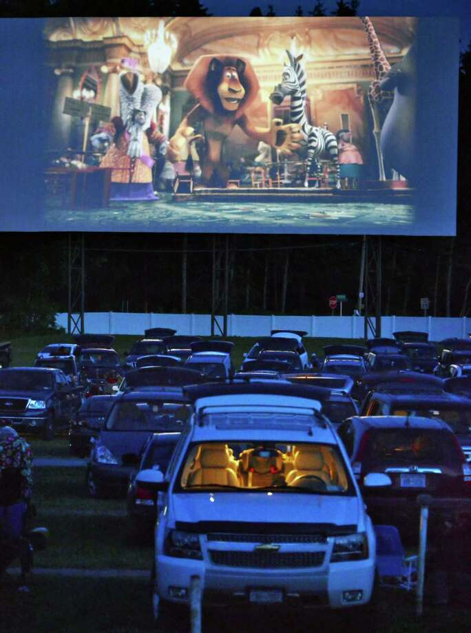 """Madagascar 3"" plays at Jericho Drive-In Saturday night, June 16, 2012,  in Glenmont, N.Y. (John Carl D'Annibale / Times Union) Photo: John Carl D'Annibale, Albany Times Union"