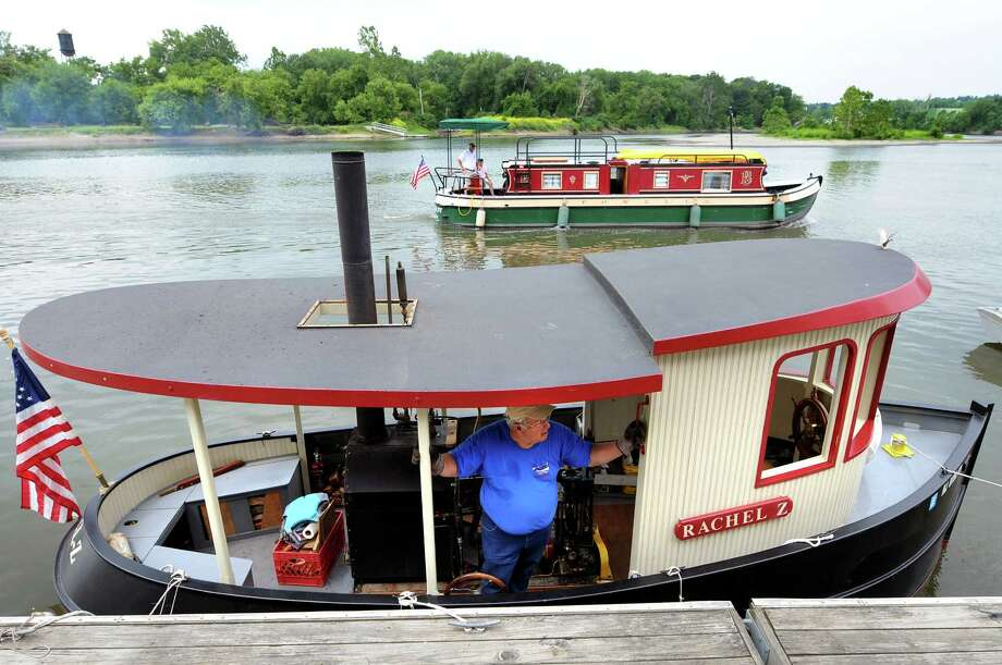 "Charles Roth of Lebanon Township, N.J. looks out from his steamboat ""Rachel Z""  as he waits for passengers during the 10th Annual Steamboat Meet on Saturday, July 7, 2012, at the Waterford Harbor Visitor Center in Waterford, N.Y. (Cindy Schultz / Times Union) Photo: Cindy Schultz, Albany Times Union / 00018313A"